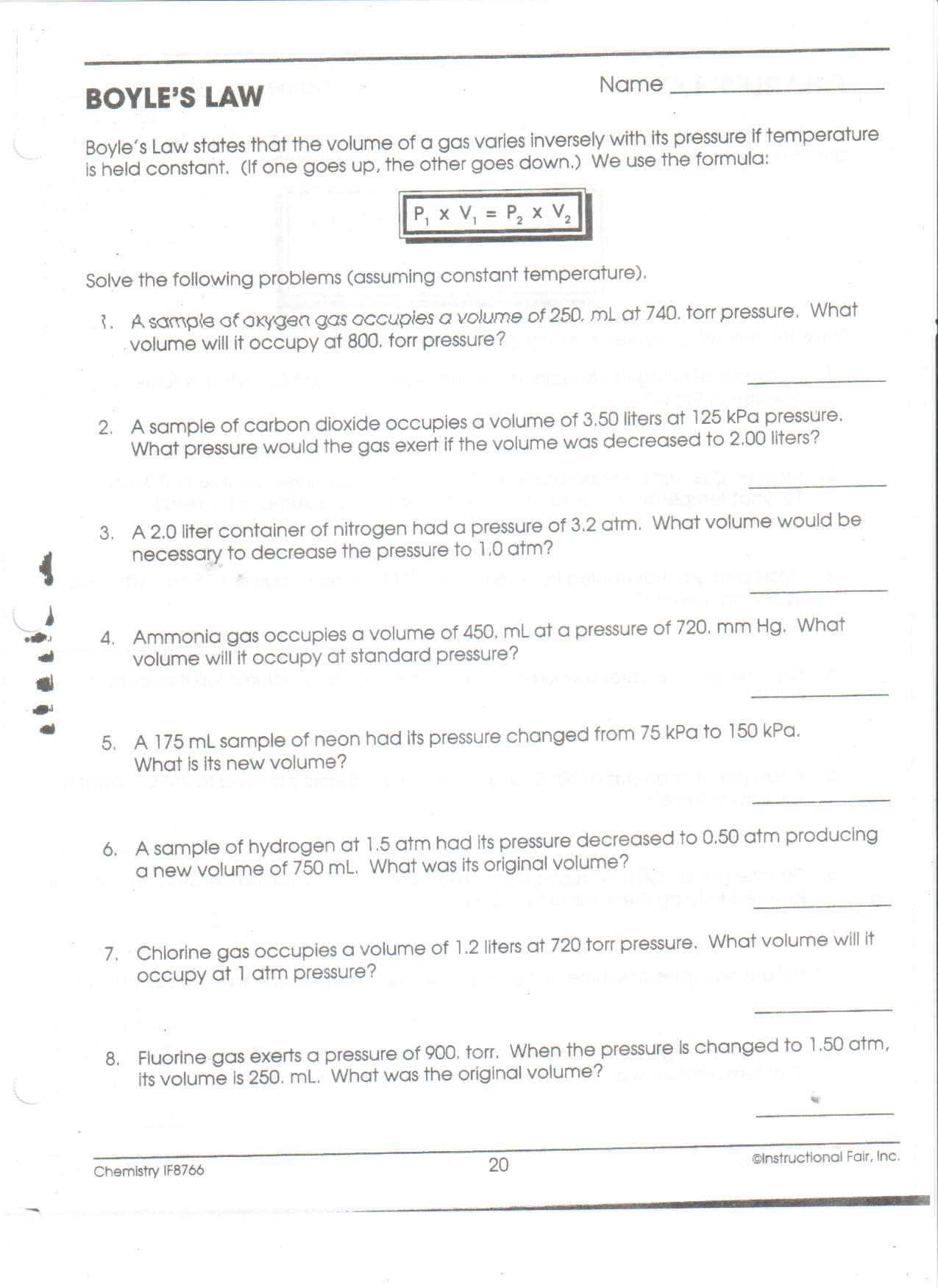 Gas Law Worksheet Answers besides Quia Quia Vsepr Powerpoint Quia ...